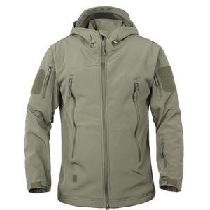 Dafeili Outono Inverno Sharkskin Caminhadas Mens Waterproof o revestimento militar Outdoor Softshell Tactical