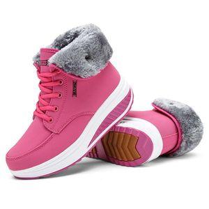 2020 New Women Boots Platform Women Shoes Plush Warm Snow Boots Female Winter Sneakers Booties