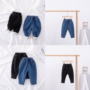 d3kOb Benemaker Children Jeans Fleece Winter Pants Add velvet Clothing For Boy Girl Thicken Denim Warm Jean Trousers Kids Pants Casual