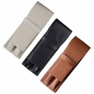 Lápices de casos Plumas 1pc Fuente retro bolsa de 2 ranuras de escritura Holder Suministros Accesorios Nueva ZpaR #