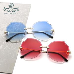 D&T 2020 New Fashion Shield Sunglasses Women Men Round Color Lens Alloy Frame Vintage Designer Sunglasses UV400