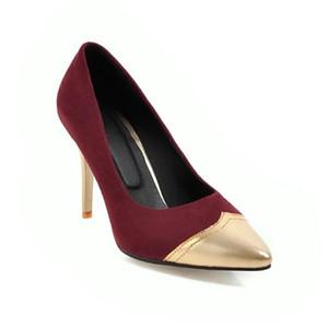 Обувь платье Большой размер остроконечных дам Высокие каблуки Женщины Женщина Насосы