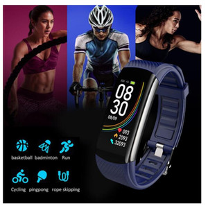 C6T Body Temperature Smart Bracelet Watch IP67 Waterproof Heart Rate Monitor Smartband Wristband Fitness Health Tracker 2020 New 1pcs