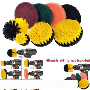 Magic Brush 8 Piece Power Scrubber Cleaning Kit All Purpose Cleaner Scrubbing Cordless Drill for Cleaning Pool Magiczne Gabki CJ191227