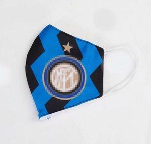 10Colors Calcio Souvenirs Nazionale di calcio Mask Cotone Materiale Fans maschere traspirante Sport all'aria aperta lavabile riutilizzabile Maschera per il viso