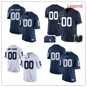 Hommes personnalisés Penn State Nittany Lions Football Jersey JACK HAM Curt Warner Lenny Moore Christian Gross-Hackenberg Yetur Jersey Matos