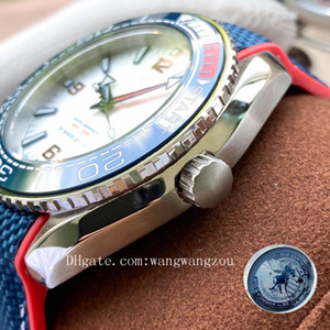 2020 high quality sea ceramic bezel watches master planet 36th americas cup ocean 821A Movement wristwatches james bond 007 mens watch D4103