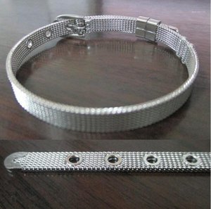 Hot Classic fine Stainless Steel Fashion Jewelry charm Bracelets Bangles Wristband 6*210mm For Women Jewelry as gift1