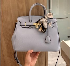 In Stock Fast Ship Top Quality Cowhide Constance Designer Handbag Purse 2020 Litchi H Word Shoulder Crossbody Bag Shopping Bags Ribbons