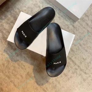 New Alta Qualidade Mens Mulheres Sandálias Verão Slide Slippers Casual Senhoras De Conforto Sapatos Interior Sapatos Slides Lazer Slider Chaussure