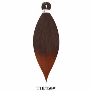"""26 """"Pre étiré tressage de tresses Jumbo Easy Extensions de cheveux 90g / PCs Easy Jumbo tresses de cheveux Synthetic Crochet Braids Tradition Cheveux Black Brown rose"""