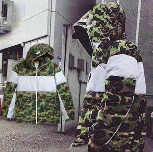 Winter Herren Jacke Parkas Mode Camouflage Daunenjacken Mantel-Qualitäts-Männer Parkas Trend Brief Printing Street S-3XL
