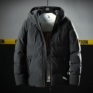 Varsanol Thick Parka Men Jacket Coat New Brand Hooded Cotton Parkas Men Solid Hooded Pocket -20 Degree Parka Men 201118