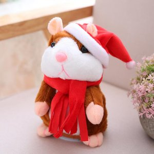 Hamster Hamster Peluche Lindo Animal Historieta Kawaii Hablar Sound Sound Record Hamster Talking Toy Children Navidad Regalos 16cm HWB2905