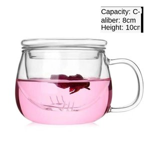 Glass Round Bubble Tea Filter Office Cup Water Thickened Flower Three Piece With Fun Fsile wmtiAx item_home