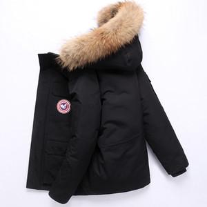 Goose et veste vers le bas rembourré pour style court Tendance épaissie hiver du Canada coupe-vent vêtements de travail en coton pour hommes