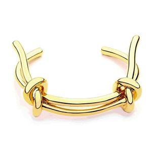 Brazaletes de brazaletes de nudo de varole para mujer Pulsera de color oro Joyería Noeud brazalete Pulseiras
