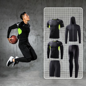 Mens Tracksuit Compression Sports Wear for Men Gym Fitness Clothing Running Jogging Suits Exercise Workout Sports tights