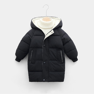 Children's Down Coat Winter Jacket For Baby Boys Girls Cotton-padded Parka & Coats Thicken Warm Long Jackets Kids Outerwear LJ201203