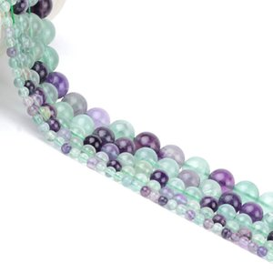 Natural Green Fluorite Beads stone Round Loose Spacer Beads For Jewelry Making 4 6 8 10 12mm DIY Bracelet Handmade Necklace