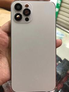 Carcaça de tampa traseira preta para iphone x xs mas como 12 Pro / 12PRO MAX METAL de alumínio traseiro da bateria da bateria substituição