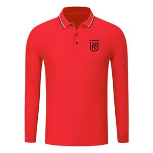 FC Nantes cotton long sleeve shirt men lapel polo soccer men polo shirt training jersey Men's Polos slim polo shirt