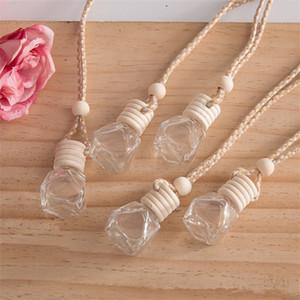 Car pendant perfume ornament air freshener for essential oils diffuser fragrance empty glass bottle DHF1279