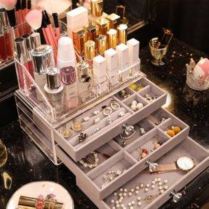 0eBHP et cosmétiques boîte de rangement tiroir produits de soins de la peau de boucles d'oreilles bijoux de style boucles bijoux Lipstick Boîte de finition acrylique e
