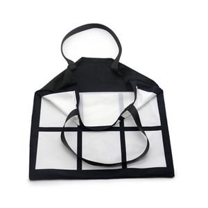 Sublimation Gitter Tragetasche doppelte Seiten Blank White DIY Wärmeübertragung Sudoku Einkaufstasche Wiederverwendbare Speicher Große Gridview Handtasche DHL F102001