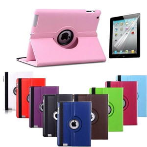 360 Degree Rotating Stand Leather Case Cover For iPad 2 3 4 12.9 10.2 iPad Pro Air 1 Mini