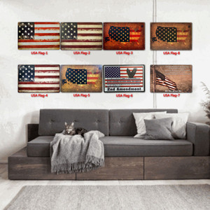 flag Tin Signs metal Vintage Posters Old Wall Metal Plaque Club Wall Home Art Metal Iron Painting Wall Decor Art Picture AHB1325
