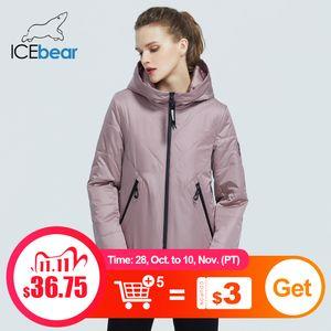 İcebear 2020 Yeni kadın Ceket Kadınlar Bahar Coat Moda Günlük Kadın Giyim Markası parkaGWC20061I C1108