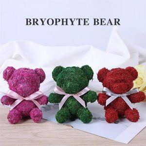 Eternal flower dried flower diy flowers fresh moss teddy bear Birthday Gifts Rhinestone Bear Gift Christmas Gifts1
