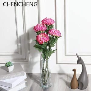 CHENCHENG 1 Piece 58 cm Silk Big Pineapple Chrysanthemum Artificial Flower Fake Flowers Home Table Decor Gift Fall Decoration
