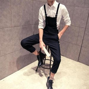 Jeans Men Suspender Pants New Fashion Casual High Waist Slim Overall Jumpsuit Streetwear Overall Boyfriend Jeans For Women E21