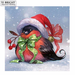Natal de pássaros Animais 5D Diamante Mosaic Craft Diamante Pintura Cross Stitch Resina Strass Praça cheia de diamantes bordados YC