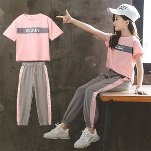 Children Clothing Set Girls Sets Kids Summer Autumn Girl Outfit Sports Suit Set 4-13Y Child Clothes Teen Girls Casual Tracksuit X0923
