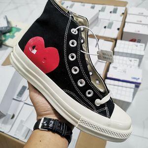 CDG Play x Converse 1970s 2020 de lujo nuevos zapatos clásicos del patín del juego Chuck lienzo conjuntamente Diseñador ojos grandes top del alto de puntos del corazón de las mujer