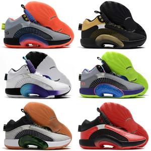 Nueva alta calidad Jumpman XXXV 35 Zapatos Rojo Blanco 35s de baloncesto del Mens del vacío de la tienda envío