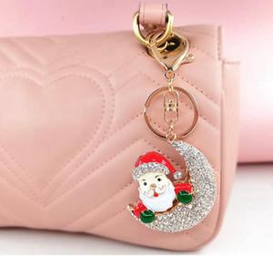 Weihnachtsweihnachtsmann-Schlüsselanhänger aus Metall Halloween Kürbis Anhänger Diamant-Geldbeutel-Beutel Pendent Weihnachten Keychain Geschenk GGA3771
