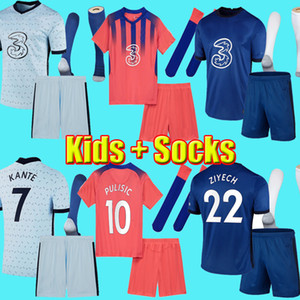 2021 PULISIC ZIYECH WERNER ABRAHAM MOUNT HAVERTZ CFC KANTE GIROUD CHILWELL camisetas de fútbol 20 21 T.SILVA camiseta de fútbol Hombres niños kit Uniforme Chelsea