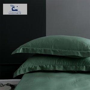 LIV-ESTHETE 25 الأم 100٪ الحرير وسادة صحية للجلد سادة حريري القضية للنساء الرجال النائمة وسادة غطاء المنسوجات المنزلية 201212