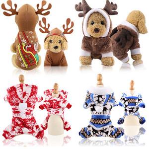 New Dog suave roupas roupa do cão do desenhador de Natal pet fornecimentos gato acessórios algodão engraçado de outono e roupas de inverno neve alces idosos