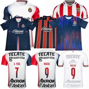 Liga MX 19 20 21 Guadalajara Soccer Jersey Chivas Regal I.Brizuela Macias A.vega 2019 2020 2021 كرة القدم الرجال النساء والأطفال قميص 4XL