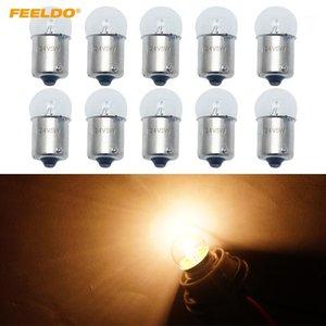 Feeldo 10pcs G18 24V5W BA15S 1156 투명 유리 램프 턴 꼬리 전구 자동 트럭 표시기 할로겐 램프 # 61281