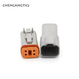 1 Set DT 4 Pim Way Deutsch Serisi Erkek Kadın Otomotiv Su geçirmez Elektrik Kablo Bağlantısı Plug Seti 22-16AWG DT06-4S DT04-4P