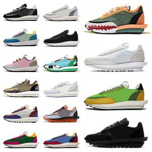Schuhe Sacai x Nike LDWaffle LDV Waffle Daybreak Nylon NYC Pigeon Chunky Dunky Laufschuhe Herren Damen Turnschuhe Schwarz Weiß Turnschuhe