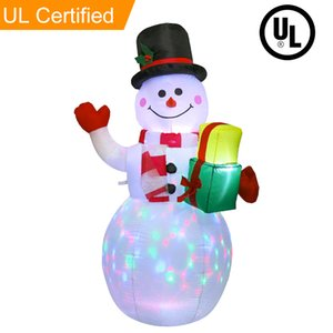 152 cm Snowman Christmas Christmas Decorazione gonfiabile Santa Claus Night Light Figure Outdoor Garden Yard Decorazioni per feste di Natale