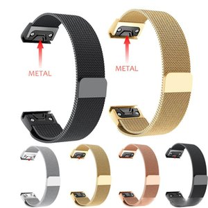 26MM 22MM 20MM Watchband Strap For Garmin Fenix 6S 5X 5 5S 3 3HR Watch Quick Release Magnetic Milanese Loop Band