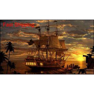 Classic Living Room Art Wall Decor Fantasy Pirate Pirates Boa Boa Pintura Oil Pintura HD Impreso en Lienzo Qylxpy New_Dhbest